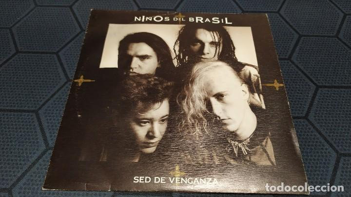Discos de vinilo: NIÑOS DEL BRASIL - LOTE DE 3 MAXISINGLES Y 5 SINGLES PROMOCIONALES - 1989-1993 - HÉROES DEL SILENCIO - Foto 28 - 216757007