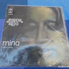 Discos de vinilo: EXPRO LP MINA CANTA EN ESPAÑOL AMOR MIO 1972 BUEN ESTADO GENERAL. Lote 216759745