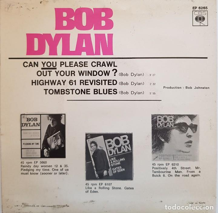 Discos de vinilo: Bob Dylan. Can you please crawl out your window? 1966 - Foto 2 - 216761023