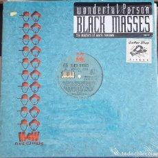 Discos de vinilo: MAXI / BLACK MASSES - WONDERFUL PERSON, MAW RECORDS MAW-031, USA 1998. Lote 216761707