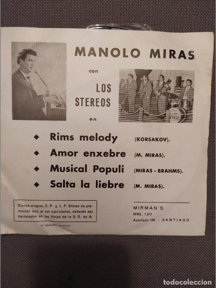 MANOLO MIRAS CON LOS STEREOS, RIMS MELODY + 3 MIRMAN'S 1975 (Música - Discos de Vinilo - EPs - Grupos Españoles de los 70 y 80)