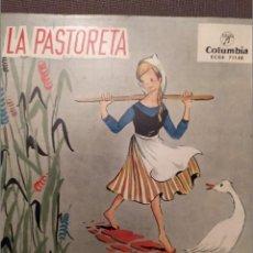 Discos de vinilo: LOT 4 DISCOS CATALANAS PER A INFANTS: LA PASTORETA, PASTORETS,CAPUTXETA, PATUFET. Lote 216770982