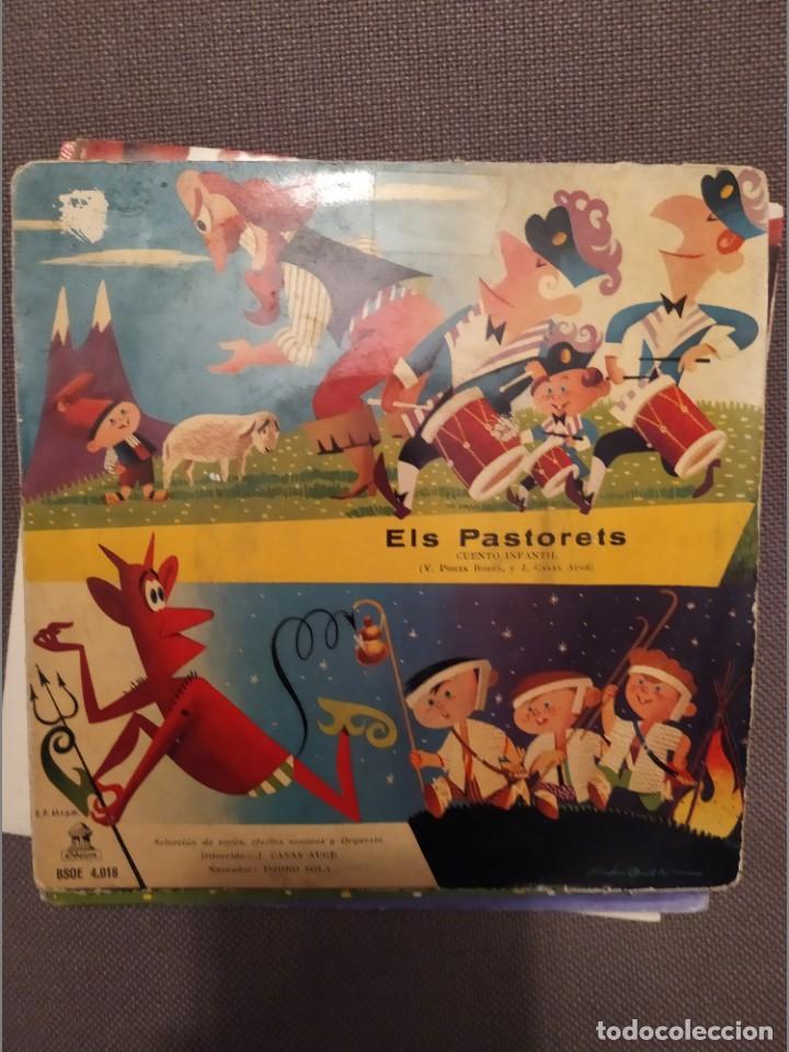 Discos de vinilo: LOT 4 DISCOS CATALANAS PER A INFANTS: LA PASTORETA, PASTORETS,CAPUTXETA, PATUFET - Foto 3 - 216770982
