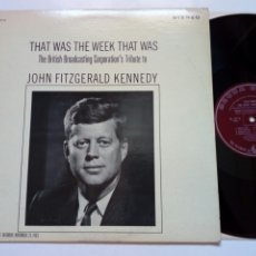 Discos de vinilo: LP: JOHN FITZGERALD KENNEDY, THE BBC TELECAST SATURDAY, NOV. 23, 1963, THE BBC TRIBUTE TO... (DECCA). Lote 216774493