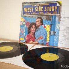 Discos de vinilo: WEST SIDE STORY - LEONARD BERSTEIN - 2XLP - GATEFOLD - ESPAÑA - VG++/VG. Lote 216783922