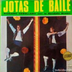 Discos de vinilo: JOTAS DE BAILE, MARIANO CEBOLLERO Y RONDALLA BRETÓN. BOLERO DE CASPE + 3 TÍTULOS. EP PORTADA DOBLE. Lote 216794237