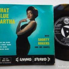 Discos de vinilo: EP EARTHA KITT, THAT BLUE EARTHA. YELOW DOG BLUES, ATLANTA BLUES, BEALE STREET BLUES +1. Lote 216799908