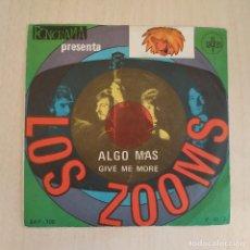 Discos de vinilo: LOS ZOOMS - ALGO MAS / GIVE ME MORE - RARO SINGLE PROMO 7'' SAYTON DEL AÑO 1968 VINILO NUEVO -PSYCH. Lote 216804078