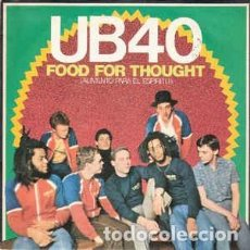 Discos de vinilo: UB40 – FOOD FOR THOUGHT = ALIMENTO PARA EL ESPÍRITU. Lote 216806207