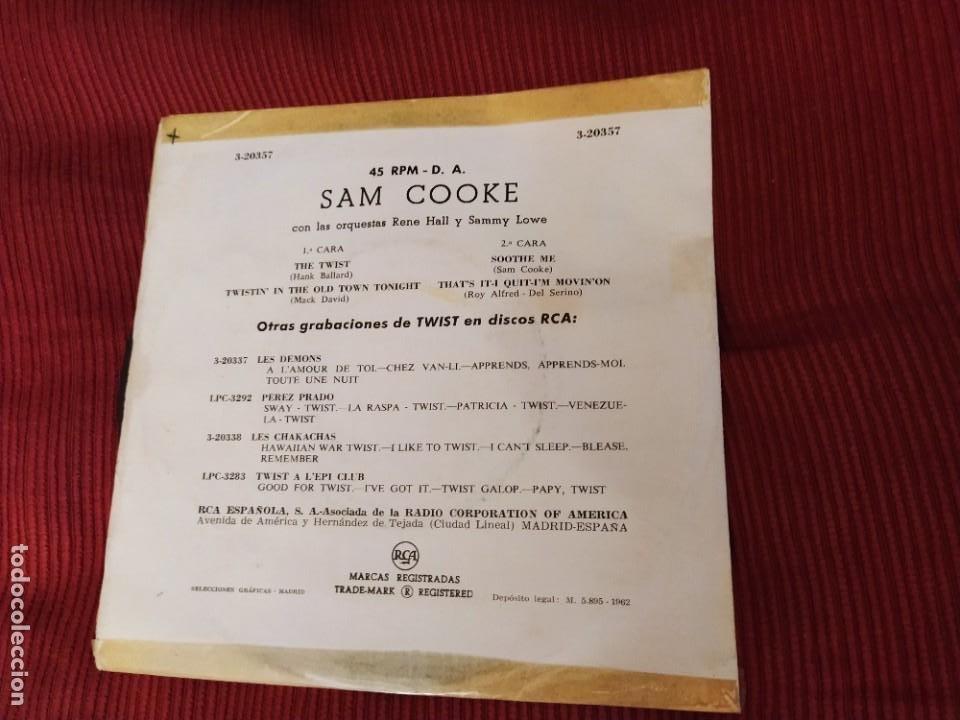 Discos de vinilo: SAM COOKE EP THE TWIST RCA SPA 1962 RARO EP SPA VER FOTO CANCIONES - Foto 2 - 216809826