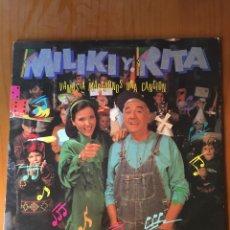 Discos de vinilo: MILIKI Y RITA-VAMOS A MARCARNOS UNA CANCION-1991. Lote 216810991