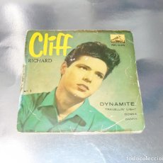 Discos de vinilo: CLIFF RICHARD --DYNAMITE / TRAVELLIN´LIGHT / DONNA / DANNY AÑO 1959 ---- VG +. Lote 175920905