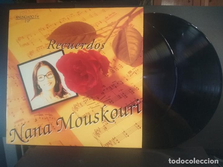 NANA MOUSKOURI , RECUERDOS , DOBLE LP PHILIPS 1994 PEPETO (Música - Discos - LP Vinilo - Canción Francesa e Italiana)