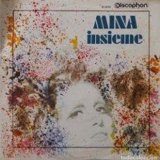 Discos de vinilo: MINA. INSIEME / VIVA LEI. SINGLE ESPAÑA. Lote 216834371