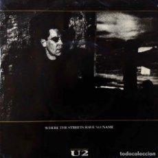 Discos de vinilo: U2, WHERE THE STREETS HAVE NO NAME + 2 CANCIONES. SINGLE PORTUGAL. Lote 216835445