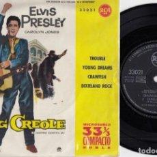 Discos de vinilo: ELVIS PRESLEY - TROUBLE - EP DE VINILO EDICION ESPAÑOLA - 33 RPM. Lote 216848707