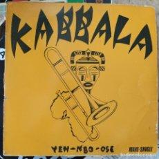 """Discos de vinilo: KABBALA - YEN-NBO-OSE / YO YO DANCE (12"""", MAXI) (VIRGIN) F-601.134 (D:VG+). Lote 216850407"""