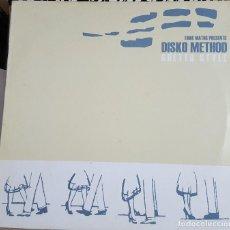Discos de vinilo: MAXI / DISKO METHOD - GHETTO STYLE, UNDER THE COUNTER ?– UTC LP-001, INGLATERRA 2001 (2 DISCOS). Lote 216852491