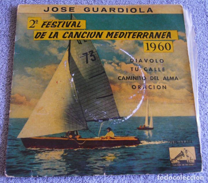 JOSE GUARDIOLA - 2º FESTIVAL DE LA CANCIÓN MEDITERRÁNEA 1960 - EP (Música - Discos de Vinilo - EPs - Otros Festivales de la Canción)