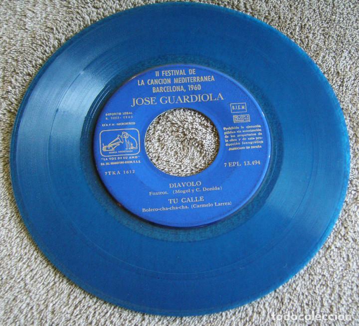 Discos de vinilo: JOSE GUARDIOLA - 2º FESTIVAL DE LA CANCIÓN MEDITERRÁNEA 1960 - EP - Foto 3 - 216858557