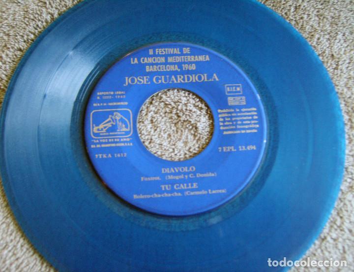 Discos de vinilo: JOSE GUARDIOLA - 2º FESTIVAL DE LA CANCIÓN MEDITERRÁNEA 1960 - EP - Foto 4 - 216858557