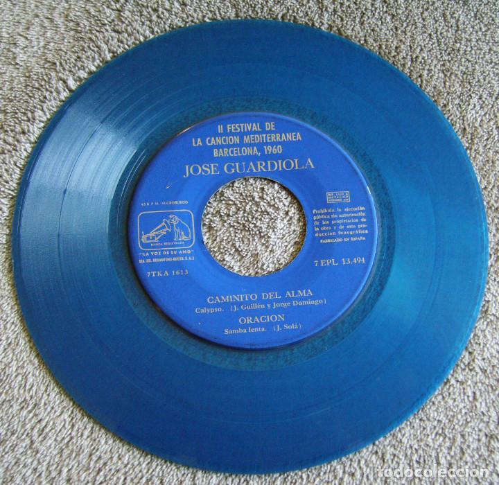 Discos de vinilo: JOSE GUARDIOLA - 2º FESTIVAL DE LA CANCIÓN MEDITERRÁNEA 1960 - EP - Foto 5 - 216858557