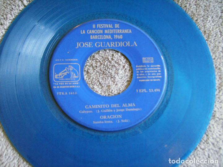 Discos de vinilo: JOSE GUARDIOLA - 2º FESTIVAL DE LA CANCIÓN MEDITERRÁNEA 1960 - EP - Foto 6 - 216858557