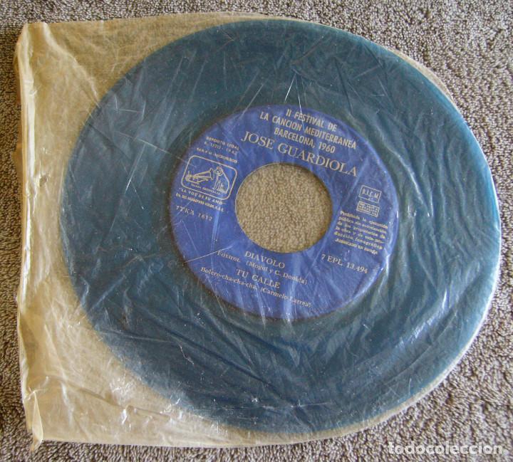 Discos de vinilo: JOSE GUARDIOLA - 2º FESTIVAL DE LA CANCIÓN MEDITERRÁNEA 1960 - EP - Foto 7 - 216858557