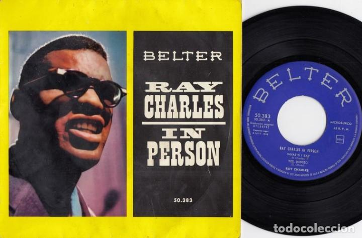 RAY CHARLES IN PERSON - WHAT I'D SAY - EP DE VINILO EDICION ESPAÑOLA (Música - Discos de Vinilo - EPs - Funk, Soul y Black Music)