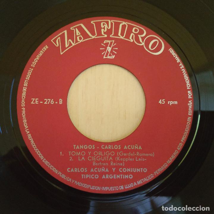 Discos de vinilo: CARLOS ACUÑA - EL DÍA QUE ME QUIERAS / VOLVER / TOMO Y OBLIGO / LA CIEGUITA - EP 1962 COMO NUEVO - Foto 4 - 216863013