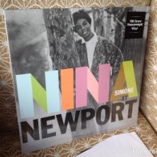 Discos de vinilo: SIMONE NINA - NINA AT NEWPORT - LP 180G COMO NUEVO.. Lote 216863781