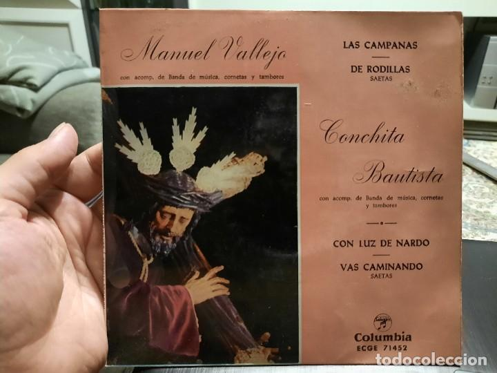 SAETAS - MANUEL VALLEJO / CONCHITA BAUTISTA - EP. DEL SELLO COLUMBIA 1960 (Música - Discos de Vinilo - EPs - Flamenco, Canción española y Cuplé)