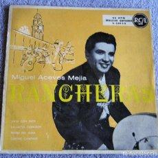 Discos de vinilo: MIGUEL ACEVES MEJIA - RANCHERAS - EP - VAYA CON DIOS + 3. Lote 216869885