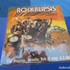 Discos de vinilo: EXPRO LP ROCKALIPSIS BUGGLES, BLONDI, BOB MARLEY... ESPAÑA 80 ESTADO TOLERABLE. Lote 216870313