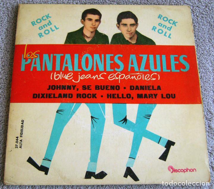 LOS PANTALONES AZULES (BLUE JEANS ESPAÑOLES) - EP - JOHNNY + 3 -AÑO 1961 (Música - Discos de Vinilo - EPs - Rock & Roll)