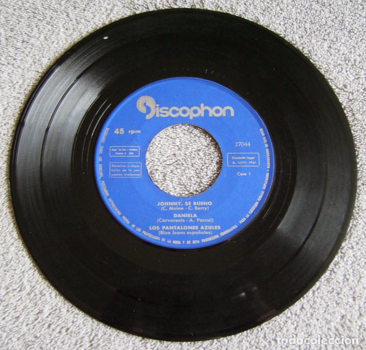 Discos de vinilo: LOS PANTALONES AZULES (BLUE JEANS ESPAÑOLES) - EP - JOHNNY + 3 -AÑO 1961 - Foto 3 - 216875505