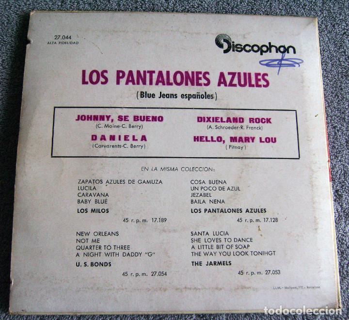 Discos de vinilo: LOS PANTALONES AZULES (BLUE JEANS ESPAÑOLES) - EP - JOHNNY + 3 -AÑO 1961 - Foto 7 - 216875505