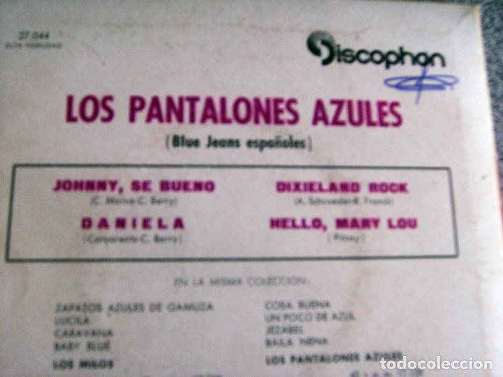 Discos de vinilo: LOS PANTALONES AZULES (BLUE JEANS ESPAÑOLES) - EP - JOHNNY + 3 -AÑO 1961 - Foto 8 - 216875505