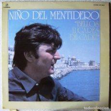 Discos de vinilo: NIÑO DEL MENTIDERO.BELLOS LUGARES DE CADIZ...PROMO...COMO NUEVO. Lote 216879632
