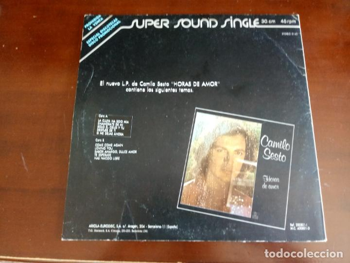 Discos de vinilo: CAMILO SESTO - COME COME AGAIN - MAXI SINGLE.12 - 1979 - Foto 2 - 216884485