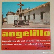 Discos de vinilo: ANGELILLO - LOS OJITOS DE MI MARE / FERNANDA / CAMINO VERDE / EL CLAVEL Y LA ROSA - EP INMACULADO. Lote 216888321