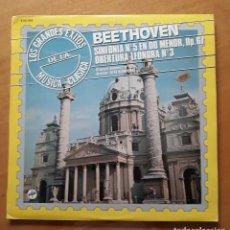 Discos de vinilo: LP BEETHOVEN. SINFONÍA N° 5 EN DO MENOR.. Lote 216895607