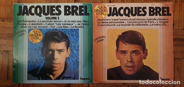 JACQUES BREL - DISQUE D'OR - VOLUME 1 Y 2 - 2 LPS (Música - Discos - LP Vinilo - Canción Francesa e Italiana)