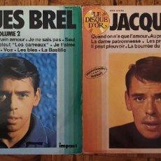 Discos de vinilo: JACQUES BREL - DISQUE D'OR - VOLUME 1 Y 2 - 2 LPS. Lote 216902350