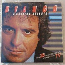 Discos de vinilo: DOBLE LP DE DYANGO - A CORAZÓN ABIERTO. Lote 216904323