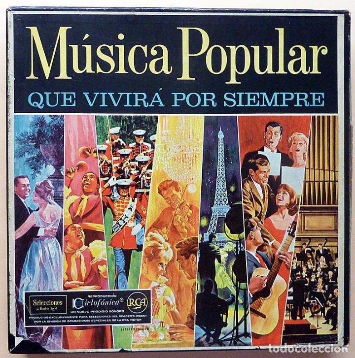 MUSICA POPULAR QUE VIVIRÁ POR SIEMPRE - CAJA 10 LPS - READER´S DIGEST (RCA VENEZUELA) - 1961 - VG+ (Música - Discos - LP Vinilo - Orquestas)