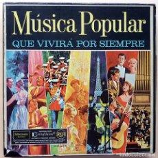 Discos de vinilo: MUSICA POPULAR QUE VIVIRÁ POR SIEMPRE - CAJA 10 LPS - READER´S DIGEST (RCA VENEZUELA) - 1961 - VG+. Lote 216906458