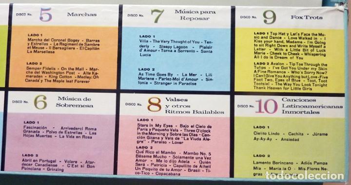 Discos de vinilo: MUSICA POPULAR QUE VIVIRÁ POR SIEMPRE - CAJA 10 LPs - READER´S DIGEST (RCA VENEZUELA) - 1961 - VG+ - Foto 7 - 216906458