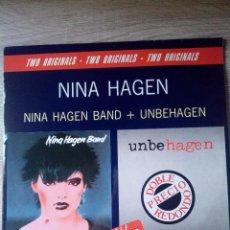 Discos de vinilo: TWO ORIGINALS 1989 NINA HAGEN BAND Y HUBEHAGEN 2 LPS EN PERFECTO ESTADO PUNK ALEMÁN. Lote 216919407