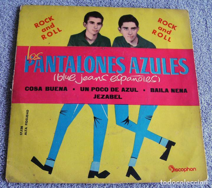 LOS PANTALONES AZULES (BLUE JEANS ESPAÑOLES) - EP - COSA BUENA + 3 -AÑO 1960 (Música - Discos de Vinilo - EPs - Rock & Roll)